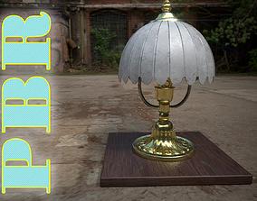 Old table lamp antique 3D asset