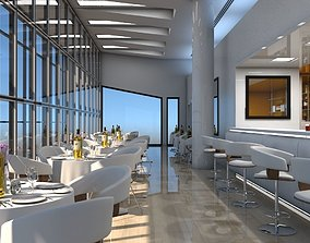 executive Restaurant Interior 3D