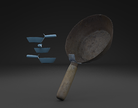3D model Scanned Old Corrosion Dipper HIGH POLY
