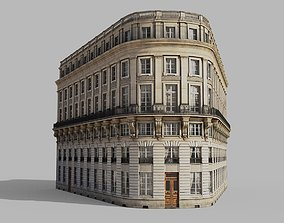 Neoclassic corner facade 3D model