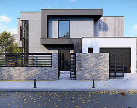 Modern House - Kv Town 3D asset