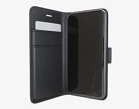 3D Smartphone in a flip wallet case 02