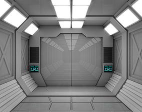 3D model realtime Sci Fi Corridor