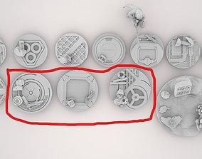 Legion Sci-fi Industrial miniature 3 bases 40mm 3D print
