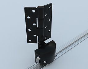 Bottom Roller hinge and track 3D model animated