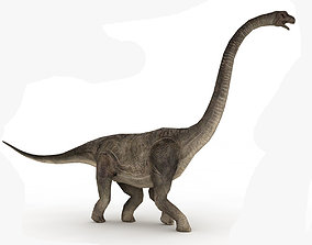 Brachiosaurus Rigged and Animated 3D model