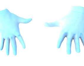 3D model Surgical sterile gloves