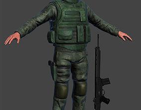 Marine Soldier 3D model