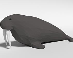 3D asset Low Poly Cartoon Walrus