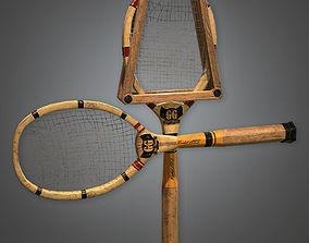 Tennis Racket Antiques - PBR Game Ready 3D asset