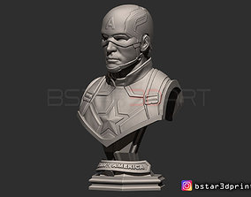 3D print model Captain America bust - With Helmet from