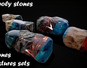 3D asset Stones pack Vol 2
