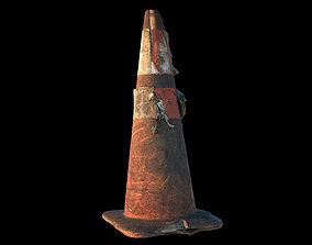 3D model Burned Traffic Cone