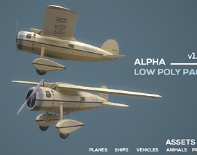 Alpha Low Poly Pack UE4 3D asset