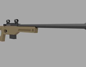 3D asset Sniper Rifle AW338