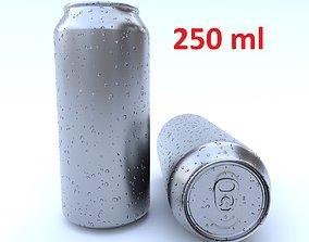 3D asset Beverage can 250 ml