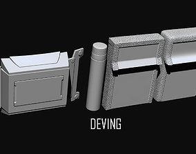 Batman JL-DOJ utility belt 3D print model games