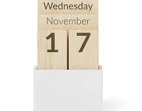3D model Wooden Calendar