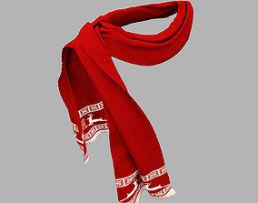 3D model men scarf