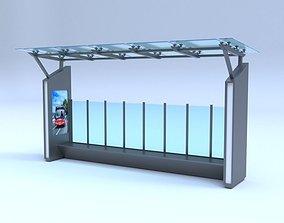 Bus station car 3D model