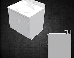 3D asset Bathroom sink with cabinet minimal for 2