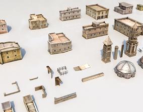 3D model low-poly Arab buildings