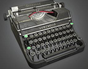 3D asset ATT - Typewriter Antiques - PBR Game Ready