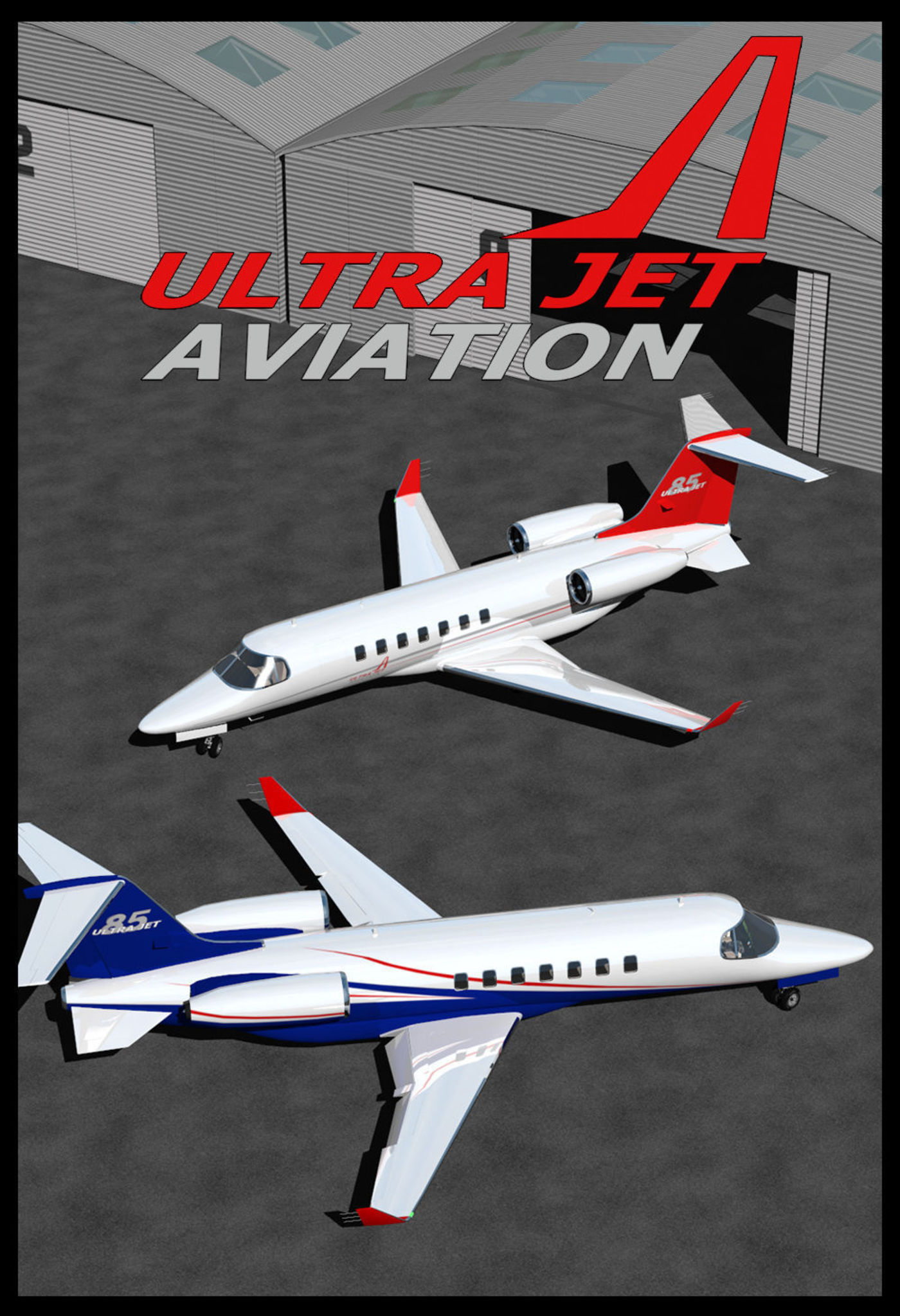 Now on sale! Private Jet With Cockpit And Cabin