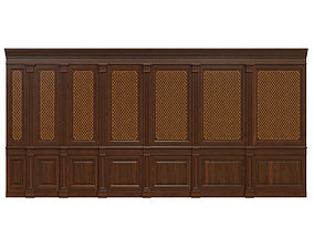 Wood panels with veneer 01 3D asset