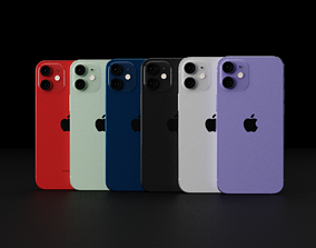 Apple iPhone 12 Mini In All Official Colors and 3D model