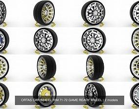 3D ORTAS CAR WHEEL RIM 71-72 GAME READY WHEEL