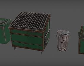 3D asset Trash Bins
