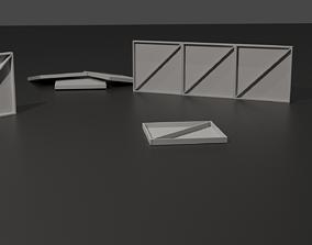metal structure modular 3D asset