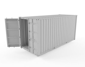 3D model exterior 20ft Shipping Container