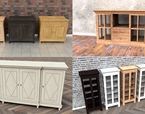 Cabinets Collection 3D model