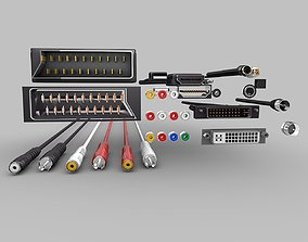 3D model Electronic-Cables-Pack