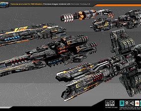Spaceships Vol-07 3D asset