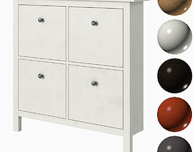 IKEA HEMNES Shoe cabinet with 4 compartments 3D model