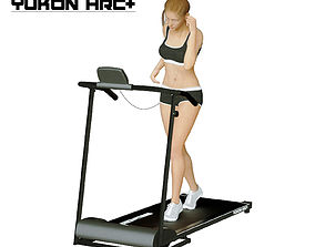 Girl on the treadmill 3D