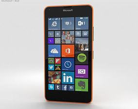 Microsoft Lumia 640 LTE Orange 3D model