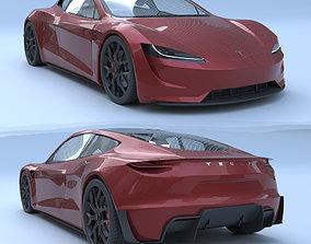 3D asset Tesla Roadster 2020