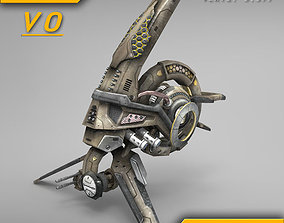 3D model Pilotless drone SciFi ANIMATED