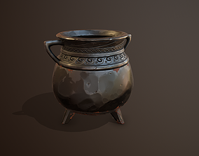 3D model Iron Cauldron Gameready