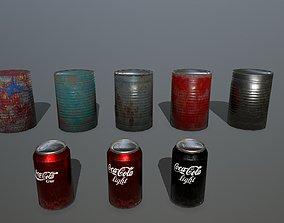 3D asset VR / AR ready coke can
