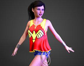 3D model WonderGirl Donna Troy