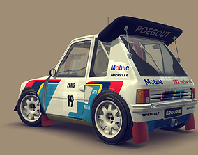 Cartoon Rally Car 3D model