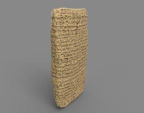 3D asset Ancient Clay Tablet