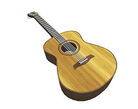 3D model Acoustic guitar - 2k PBR lit and baked lighting