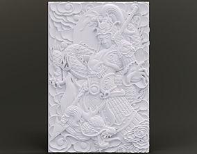 Young Warrior Relief 3D print model