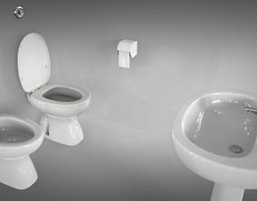 Toilet basic set 3D model